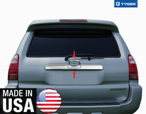 Chrome Accessories Tailgate Trim With Logo Cutout For 03 09 Toyota 4runner 2p