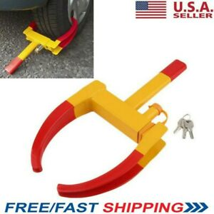 New Wheel Tire Boot Lock Clamp Claw For Car Rv Boat Truck Trailer Anti Theft