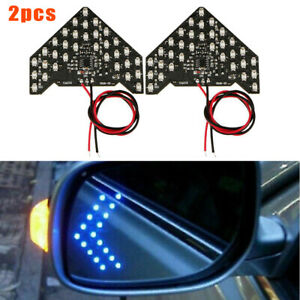 2pcs Blue 33 smd Sequential Led Arrows For Car Side Mirror Turn Signal Lights