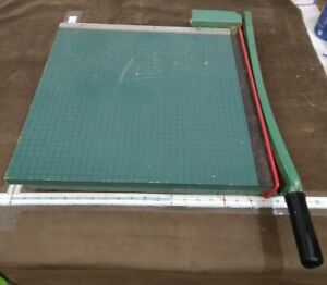 Vtg Large Photo Materials Premier Spring Arm Heavy Duty Paper Cutter 20x20