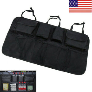 Car Trunk Organizer Interior Accessory Back Seat Storage Box Bags Multi Pocket