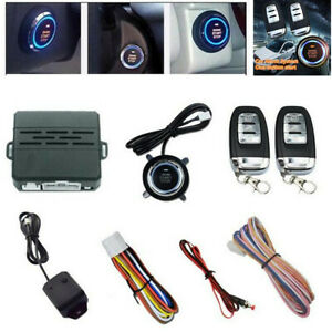 Car Alarm Security System Vehicle Keyless Entry Ignition Remote Starter W 2 Key