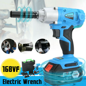 1 2 530nm Electric Cordless Brushless Impact Wrench Set W Battery Chaiger Box