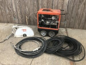 Husqvarna Core Cut Pro Series Flush 25 Inch Hydraulic Concrete Saw And Hoses
