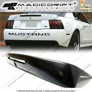 For 99 04 Ford Mustang Cobra Style Flush Mount Rear Trunk Lip Spoiler W Brake