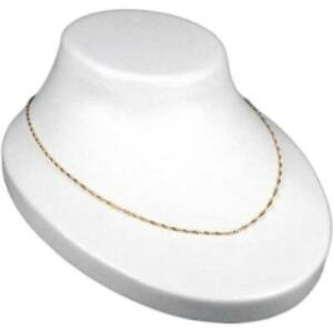 Necklace Display Bust White Plastic Chain Holder