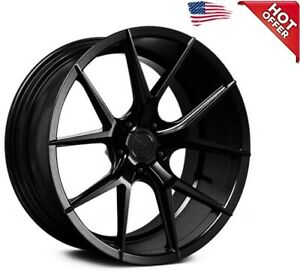 4ea 19 Staggered Verde Wheels V99 Axis Satin Black Rims S41