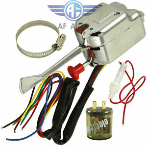 12v Universal Street Hot Rod Turn Signal Switch For Ford Gm With Flasher Kit
