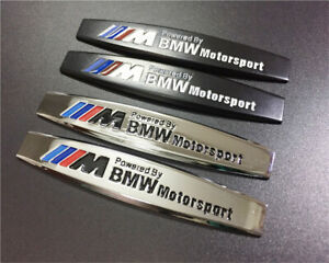 Car Metal Emblem Decals For Powered By Bmw Motorsport Racing Auto Body Stickers