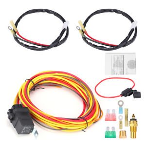 40amp Thermostat Sensor Kit 165 To 185 Dual Electric Fan Relay Wiring Harness