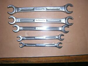 Snap On 5 16 13 16 Rxh Series Flare Nut Line Wrench Set 5pc Underline I Beam