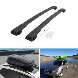 2 Pieces Black Roof Racks Fit For Subaru Forester 2019 2020 2021 Crossbars