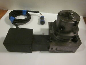 Cnc Precision 4 Power Rotary Table Index W 3 Chuck Mill Router Grind Engraver