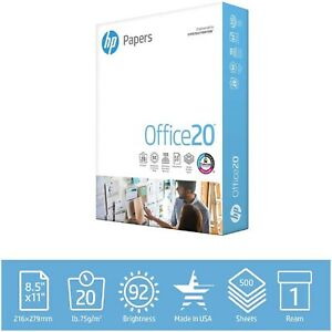 Hp Printer Paper Office 20 8 5 X 11 Copy Print Letter Size 1 Ream 500 Sheets