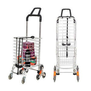 Lonabr Folding Shopping Cart With Wheels Stair Climber Grocery Utility Hand Cart