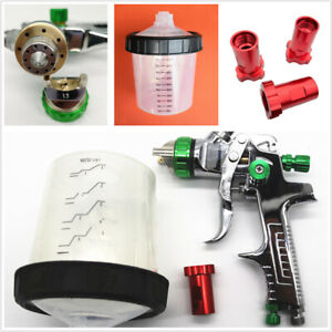 Car Hvlp Spray Gun Paint Airbrush 1 3mm Nozzle 50 70psi With Adapter Pps Tank