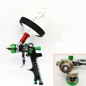 Spray Gun 1 3 1 4 1 7mm Nozzle With Adapter And Pps Tank Hvlp Paint Spray Gun