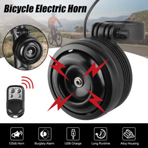 Wireless Anti theft Vibration Bike Bicycle Security Alarm Horn Usb Rechargeable