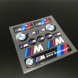 Car Waterproof Pvc Emblem Decal For Powered By Bmw Motorsport Auto Motor Sticker