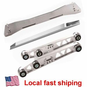 Billet Rear Control Arm Subframe Brace Tie Bar For 1988 1995 Honda Civic Eg Lca