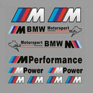 Car Waterproof Pvc Emblem Decals For M Power Bmw Motorsport Auto Badge Stickers
