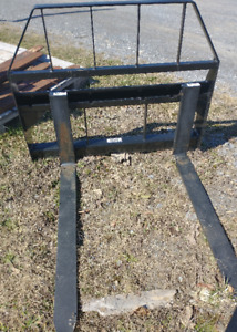 New Compact Tractor Or Small Skid Steer Loader 48 Hd Pallet Forks Fit Bobcat