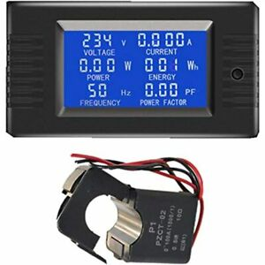 Autens Ac Digital Meter 80 260v 100a Current Voltage Power Energy Panel Monitor
