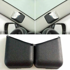 2pcs Black Auto Car Interior Card Organizer Storage Bag Box Holder Accessories