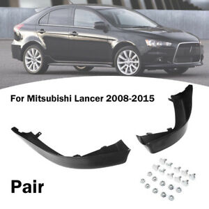 Front Bumper Lip OE Style Side Splitter Spoiler For Mitsubishi Lancer 2008 2015 $56.99