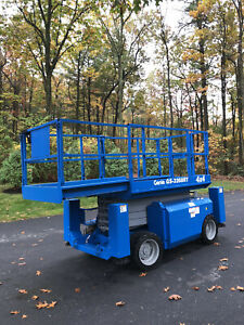Genie Gs3268rt Rough Terrain Scissor Lift With Outriggers