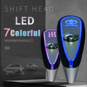 New Auto Gear Shift Knob Led Light Multi Color Touch Activated Sensor For Toyota