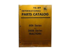 Farmall International 606 2606 Parts Catalog Mccormick