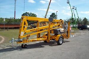 Haulotte 4527a 51 Height Towable Boom Lift new 2021s In Stock w spare Wheel Kit