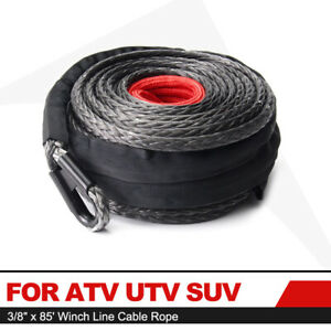 For Atv Utv Suv Motorcycle Synthetic Winch Rope 3 8 85 Winch Line Cable Rope