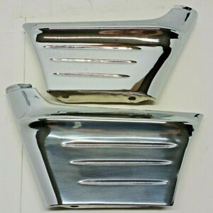1956 Chevrolet Chrome Front Fender Grille Side Guards Wrap Around Extensions