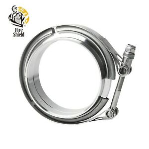 2 5 Quick release V Band Exhaust Clamp Male Female Flanges Kit Stainless Steel