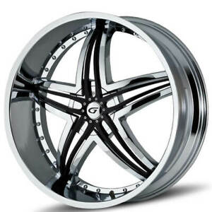 4ea 20 Gianna Staggered Wheels Blitz Chrome With Black Inserts T1 Rims S44