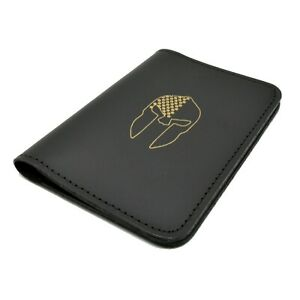 Leather Notebook Cover Spartan Logo Book Style Memo Book Cover 3x5 Pocket Note