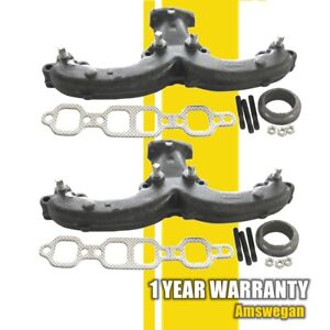 Left Right Exhaust Manifold Kit For Chevy Corvette Impala Gmc K1500 K2500