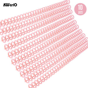 Kw trio 10pcs Plastic 30 hole Loose Binders Ring Binding Spines Combs 85 Sheets