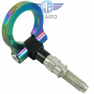 Brand New Neo Chrome Cnc Racing T2 Tow Hook For Euro Bmw 1 3 5 E M Series X3 Z4