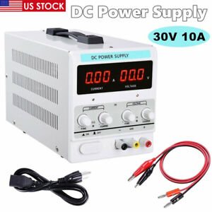 30v 10a Variable Regulated Digital Dc Power Supply Accuracy Adjustable 110v Us