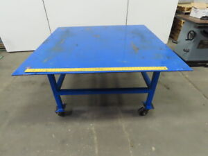 60 1 2 X 60 Steel Top Mobil Fabrication Welding Assembly Table Bench 32 Tall