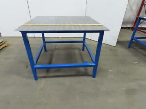 48 25 X 48 25 X 36 5 Tall Steel 3 8 Top Welding Assembly Fabrication Bench Table