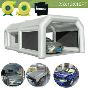 23x13x10ft Inflatable Spray Paint Booth Auto Parts Tent Mobile Car Workstation