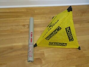 Handy Cone Yellow Caution Wet Floor Sign 18 Tall With Wall Mount Holder