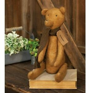 New Primitive Grungy Rustic Country Vintage Antique Style Teddy Bear Doll 19