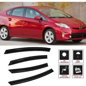 Fit 2012 2017 Toyota Prius V 4pcs Rain Guard Vent Shade Window Visors Deflector