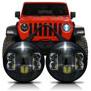 Led Pro Projector Headlights W Cree Upgrade For Jeep Wrangler Jl Jlu Gladiator
