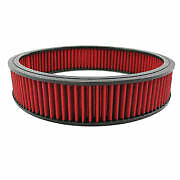 14 X 3 Round Air Cleaner Filter With Red Oil Washable And Reusable
